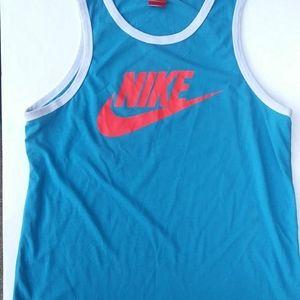 Nike Blue and Orange Tank Top